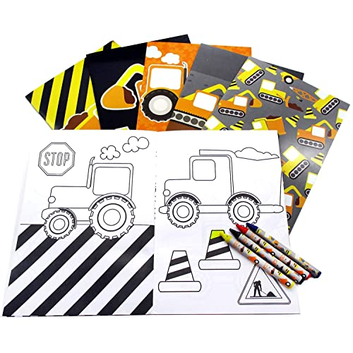 Construction Trucks Coloring Book With Crayons Party Favors 12 Pack