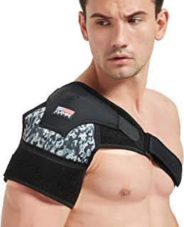 Shoulder Brace for Men and Women [2020 Version] Rotator Cuff - for Bursitis, Dislocated AC Joint, Labrum Tear, Tendonitis,Neoprene Compression Support Sleeve (Camouflage, S-M)