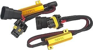 9006 50W 6 Ohm LED Lights Load Resistor Adapter Fix Hyper Flashing Blinking Canbus Error Warning Canceller for Fog Lights Daytime Running (2pieces)