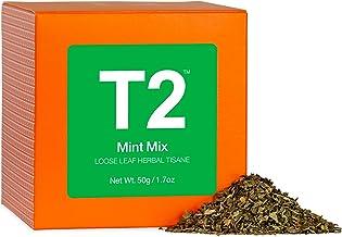 T2 Tea Mint Mix Herbal Tea, Loose Leaf Herbal Tea in Gift Cube, 50 g