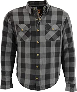 Rrive Men Hooded Drawstring Button Down Plaid Check Lapel Loose Shirts