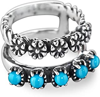 American West - Sterling Silver and Gemstone Split Band Ring
