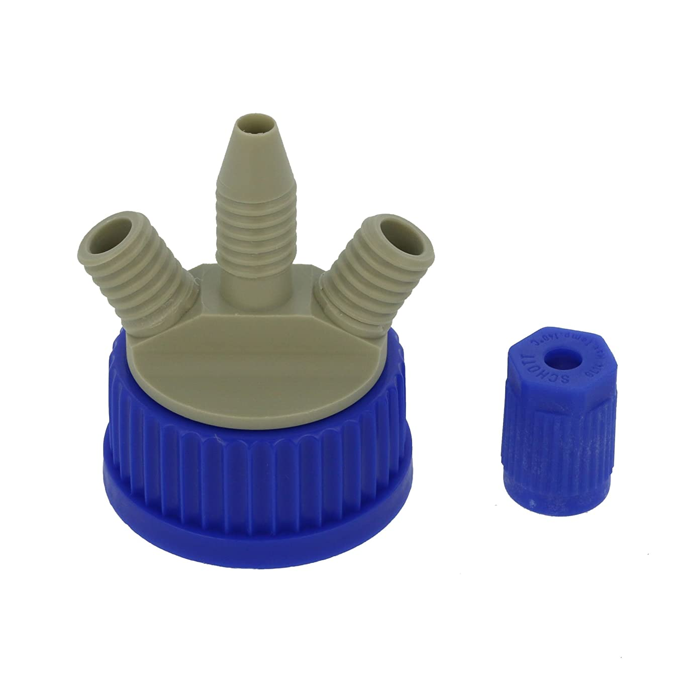 符号にぎやかスリップシューズ柴田科学 撹拌容器キャップセット(シャフトなし) GL-45 016000-451