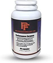 Physique Formula Performance Digestive Enzymes with Betaine HCL Pepsin, Pancreatin 10X Amylase, Protease, Lipase, Ox Bile Extract, Papaya Fruit Powder, Bromelain, Papain,Biofilm Enzymes Disruptor