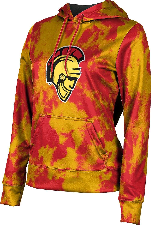 ProSphere California State University, Stanislaus Girls' Pullover Hoodie, School Spirit Sweatshirt (Grunge)