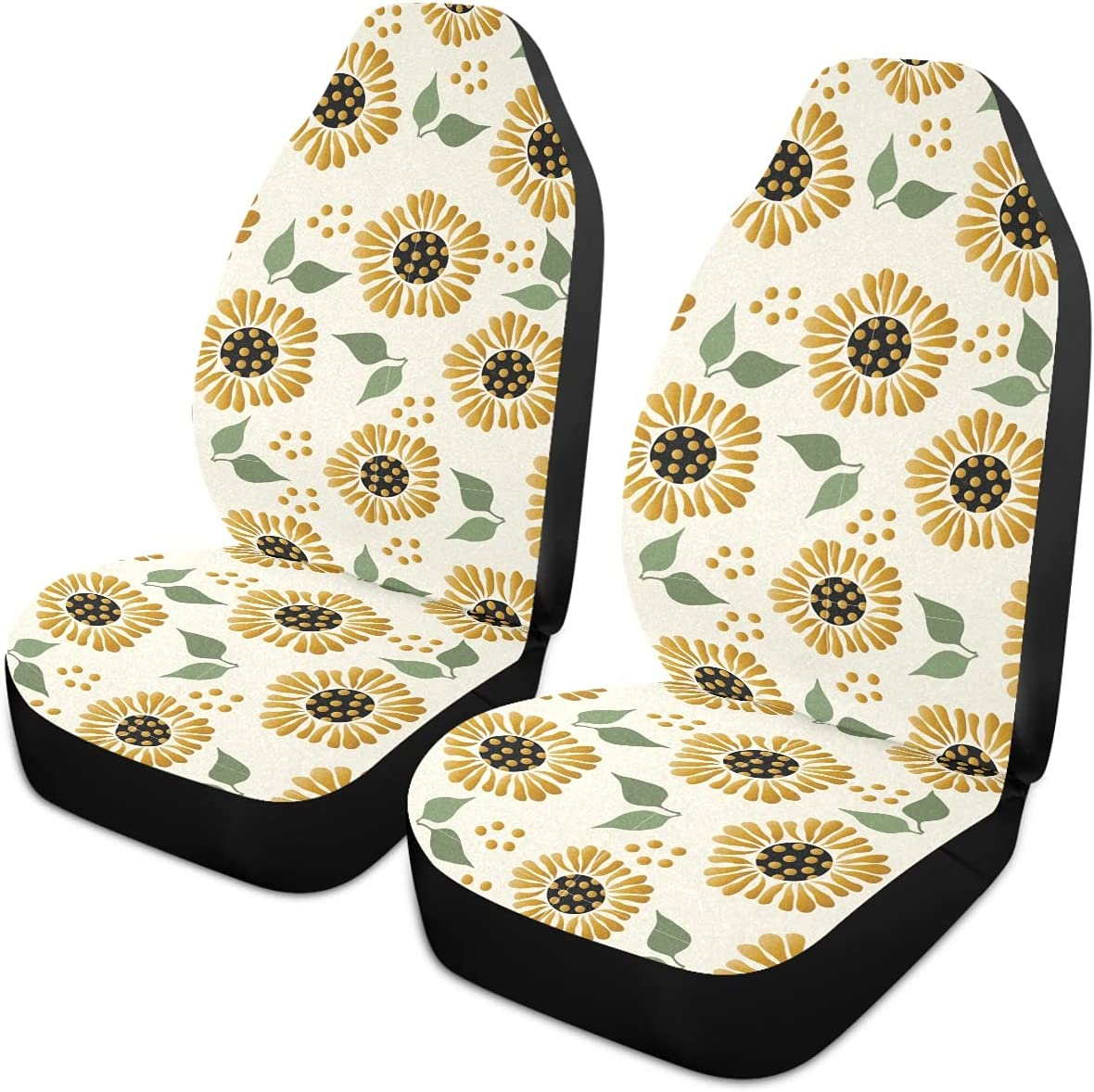 Oarencol Vintage Sunflower Art Car Universal Covers Fr Seat discount Max 73% OFF Auto