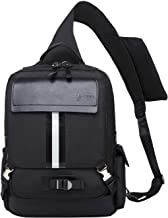 Mygreen Sling Bag for Men Chest Shoulder Gym Backpack Sack Satchel Outdoor Crossbody Pack Black