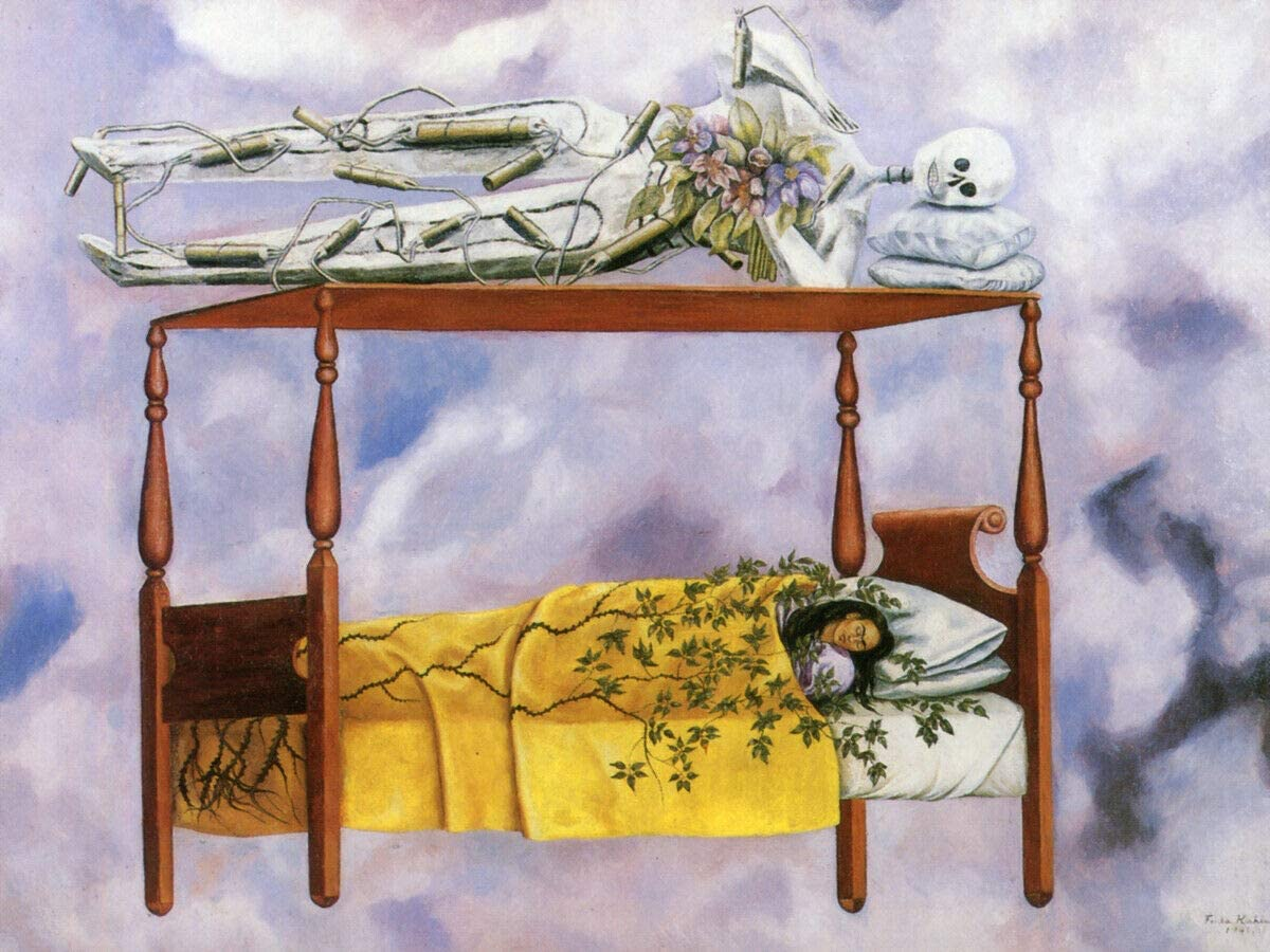 Frida Kahlo - The Dream 12x16 Print or Free shipping on posting reviews Wall Oakland Mall Canvas Art
