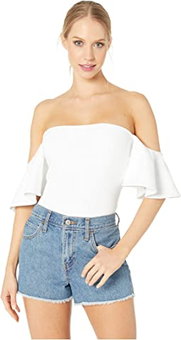 30c9c0e9c864f Flutter Sleeve Off Shoulder Top