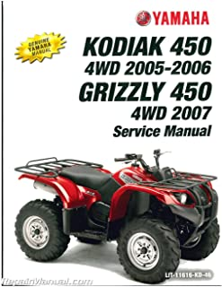 yamaha grizzly 450 service manual