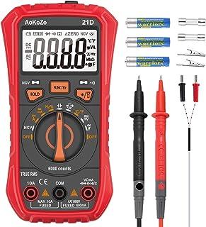 comprar comparacion Multimetro Digital,AoKoZo 21D Automático Polimetro Digital 6000 Cuentas,TRUE RMS (Tamaño147*71*45mm)