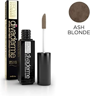 Divaderme BROW EXTENDER II - Ash Blonde - 2-In-1 Natural Brow Fibers + Enhancer Treatment - Bold Healthy Eyelashes - Helps Grow Strong Eyebrows - Made in USA