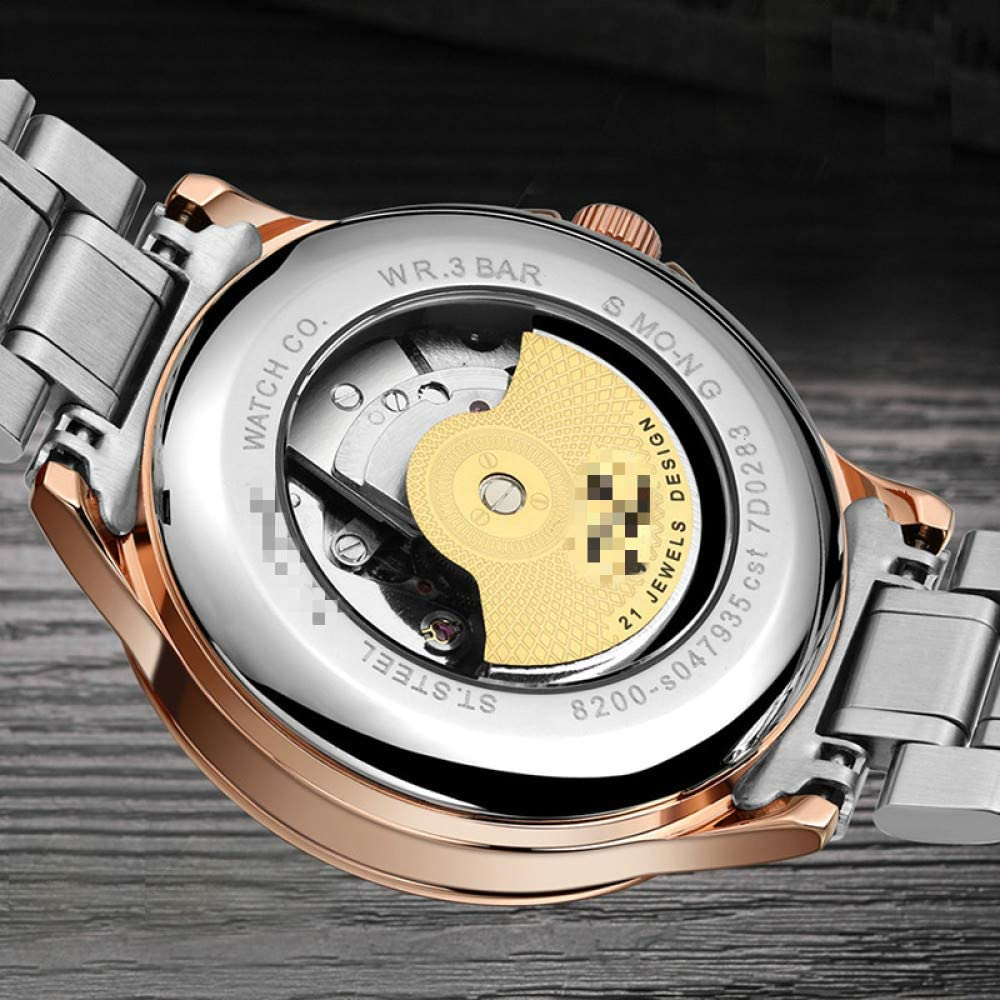 Sport Automatisch Horloge, Heren Horloges Klok, Heren Man Skelet Tourbillon Waterdicht Mechanisch Horloge B