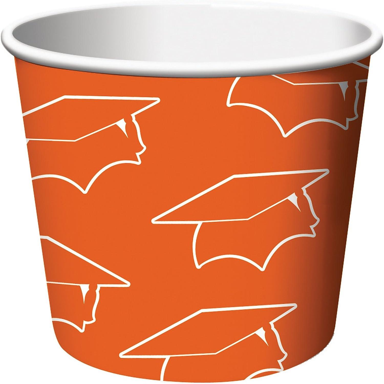 Creative Congreening 6 Count Graduation Treat Cups, orange