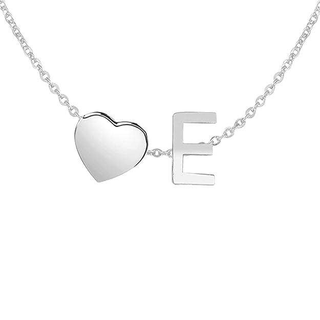 Kanak Jewels Lovely Alphabet 'E' & Tiny Heart Locket