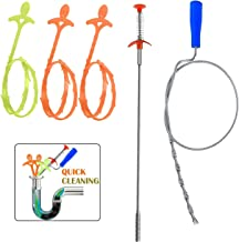 5 in 1 Drain Snake Cleaner Drain Auger Hair Catcher, Sink Dredge Drain Clog Remover Cleaning Tools for Kitchen Sink Bathroom Tub Toilet Clogged Drains Dredge Pipe Sewers