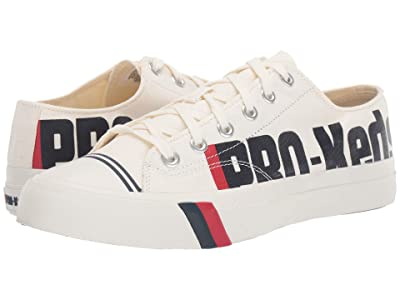 Pro-Keds Logo Printed Canvas Royal Lo (White/Navy/Red) Men
