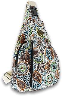 KUNST UND MAGIE Sling Bag Schultertasche Hippie Goa Bodybag crossbody Rucksack Bunt M