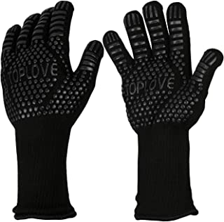 BBQ Grill Gloves [1472℉ NEWEST] EN407/EN420 CE Heat Resistant – Oven Silicone..