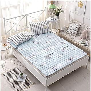 Colchón plegable de sección delgada para estudiantes adultos, dormitorio, tatami, colchón plegable, futón, protección de la alfombra del piso, colchón de invitados suave y transpirable, A, 120 * 200