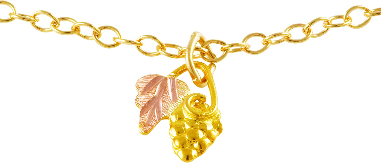 Grape Cluster and Inventory cleanup selling sale Leaf Drop Pendant Gold 1 Necklace 2021 spring and summer new Yellow 10k