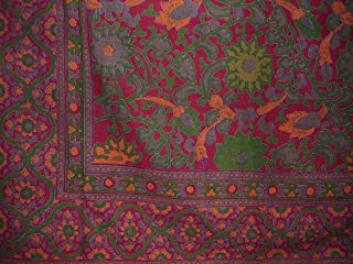 India Arts Sunflower Print Tapestry Cotton Bedspread 108