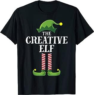 Creative Elf Matching Family Group Christmas Party Pajama T-Shirt
