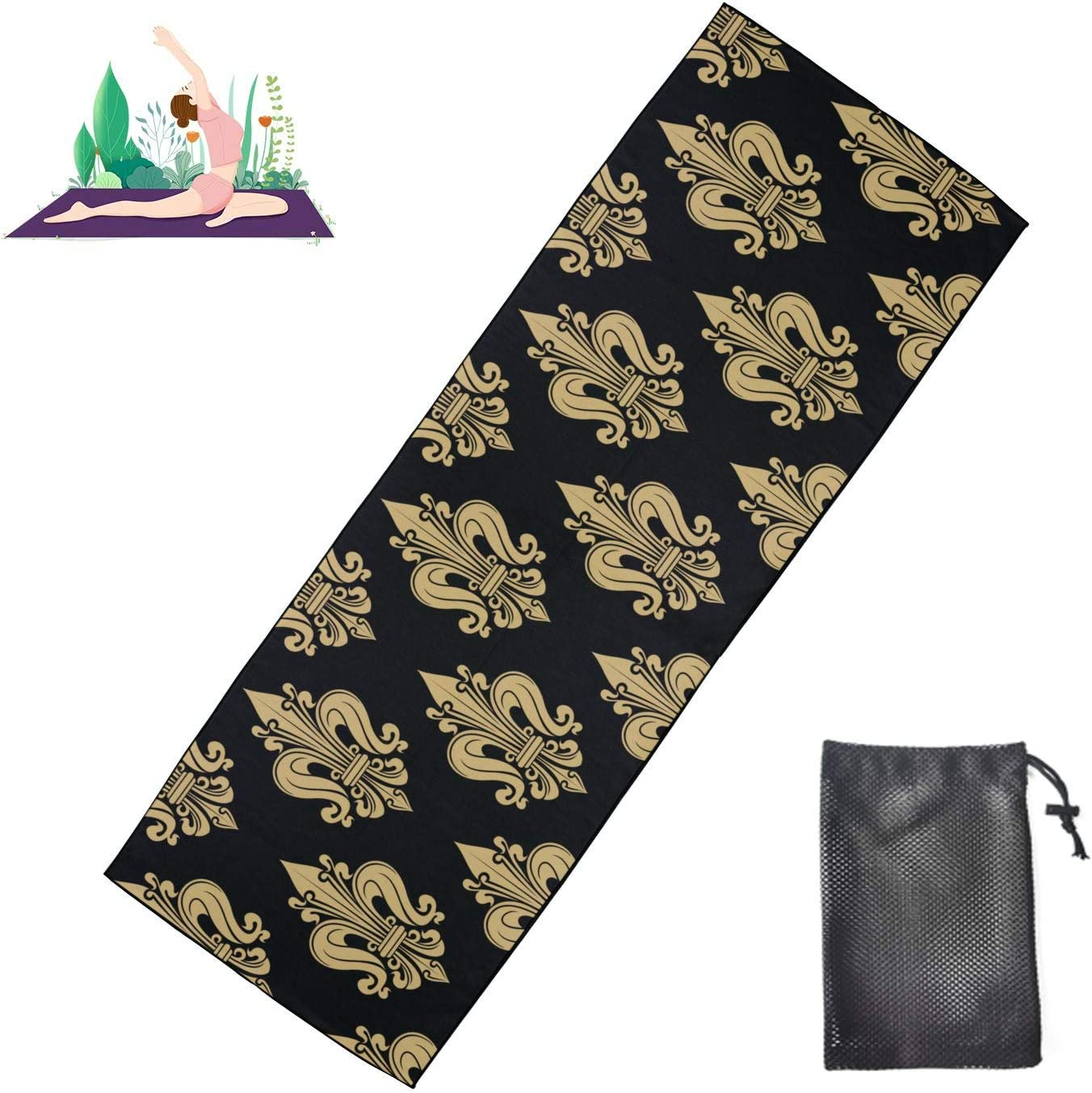 Printed Bargain Yoga Mat for Men French Omaha Mall Heraldic De Hot Fleur T Lis