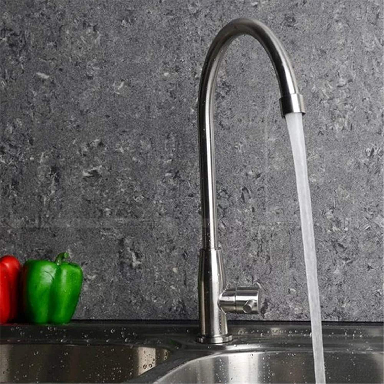 Oudan Vegetables Basin Kitchen Basin Copper Alloy Single-Hole Mixing Valve Faucet Cold redatably (color   -, Size   -)