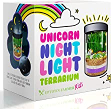 Unicorn Terrarium Kit for Kids – Girls or Boys Science Kits Stem Toys with Night Light - DIY Craft Educational Garden Discovery Toy for Age 4 5 6 7 8 9 10