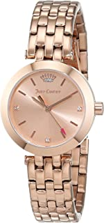 Juicy Couture Women's Analogue Classic Quartz Watch With Gold Plated Strap 1901460