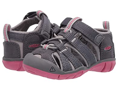 Keen Kids Seacamp II CNX (Toddler) (Steel Grey/Rapture Rose) Girls Shoes