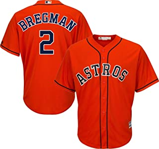 Outerstuff Alex Bregman Houston Astros #2 Orange Youth Cool Base Alternate Replica Jersey