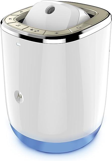 Motorola Smart Nursery Dream Machine - Vigilabebés audio Wi-Fi y proyector de luces y sonidos con control de temperatura y humedad color blanco