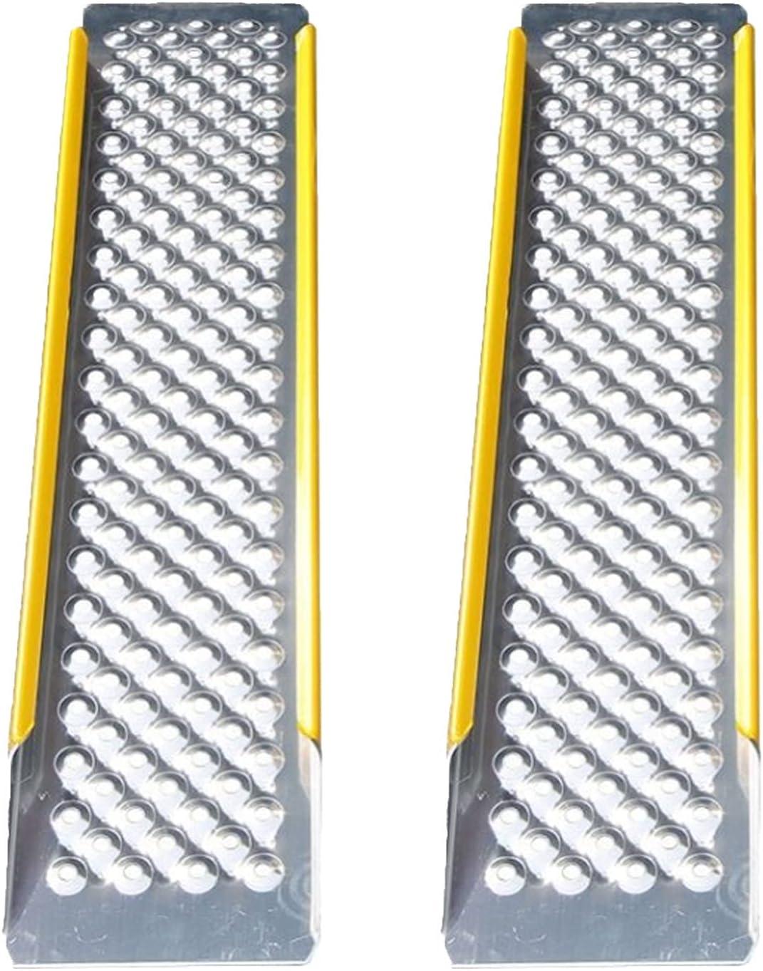 LIPINCMX Rampa de Aluminio para Silla de Ruedas para el hogar, rampa de Carga portátil Ligera para sillas de Ruedas, Juego de 2