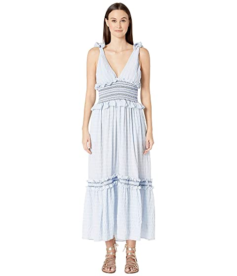 Jonathan Simkhai Smocked V-Neck Dress