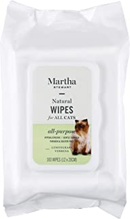 Martha Stewart Wipes for Dogs & Cats   Effectively Removes Dirt & Odors    Pet Wipes For Cats and Dogs, Made with Natural Ingredients   100% Safe for Pets