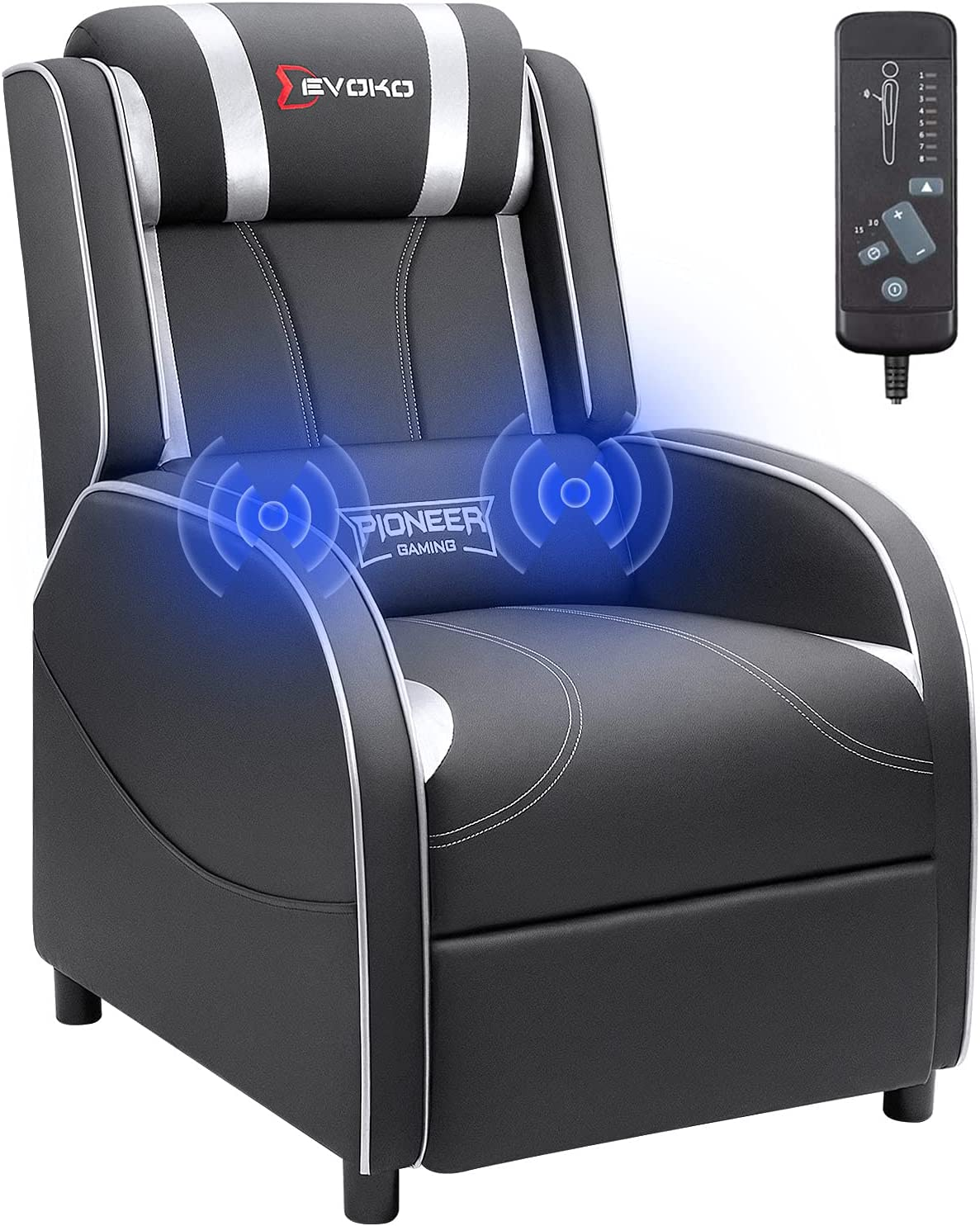 Devoko Massage Gaming Recliner Chair Sea PU Theater Home Leather Bombing free shipping Superlatite