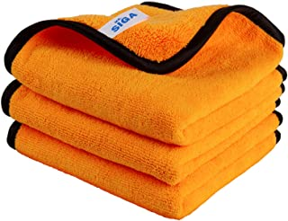 MR.SIGA Professional Premium Microfiber Towels for Household Cleaning and Car Washing, Dual-Sided Auto Detailing Towels, G...