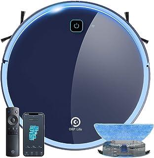 【掃除・水拭き両用】ロボット掃除機 静音設計 お掃除ロボット 水拭き 床拭き 拭き掃除 床掃除 全自動 ロボットクリーナー Wi-fi接続 アプリ対応 自動充電 知能自動掃除機 予約清掃 薄型 一人暮らし 引っ越し 新生活応援 OKP K7 拭...