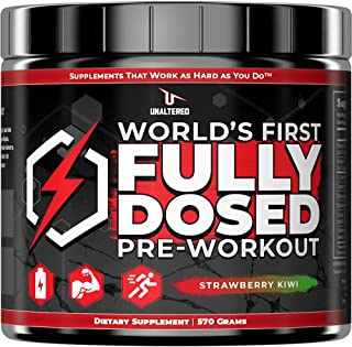 Pre Workout for Men Muscle Growth - First PreWorkout Powder with 5g Creatine Monohydrate, 6g Citrulline Malate, and 2.5g B...