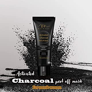 Mesmara Activated Charcoal Peel Off Mask 100g - Removes Black Heads, Detoxifies Skin, Tightens Pores, Deep Pore Cleansing for ACNE, Anti Ageing and Wrinkle Reduction