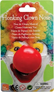 Bristol Novelty MD178 Honking Clown Nose , Red , One Size