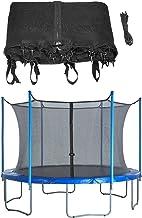 QYK -Trampoline vervangende veiligheidsbehuizing, 6/8/12 rechte palen met ronde frame trampolines, ademende en weerbestend...