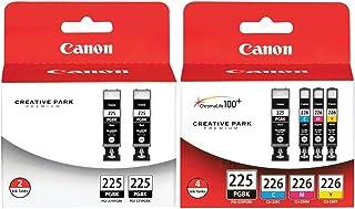 Genuine Canon PGI-225/CLI-226 Ink Tank Combo Pack (4530B008) + Canon PGI-225 Black Ink Cartridge Twin Pack (4530B007)