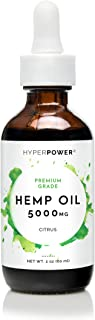 Hemp Oil for Anxiety & Pain Relief - 5000mg - Premium Grade Pure Hemp Extract for Improved Sleep, Mood, and Relaxation - 100% Natural, Vegan, Made in USA