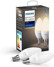 Philips Hue Kaarslamp 2-Pack - E14 - Duurzame LED Verlichting - Warmwit Licht - Dimbaar - Verbind met Bluetooth of Hue Bri...