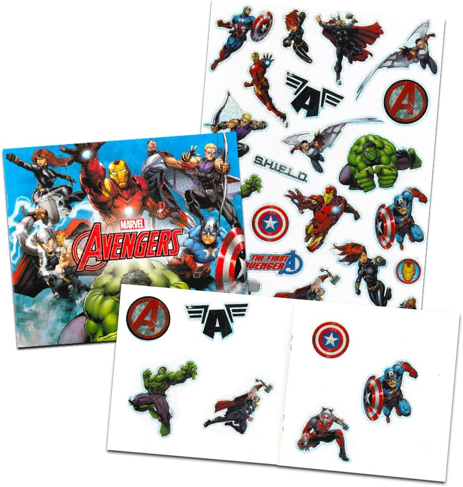 Marvel Avengers Backpack and Lunch Box for Kids Bundle ~ Deluxe 16