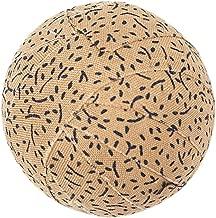 """VHC Brands Rustic & Lodge Decor - Millsboro White #1 Round Fabric Ball Set of 6, 1.5"""" Diameter"""