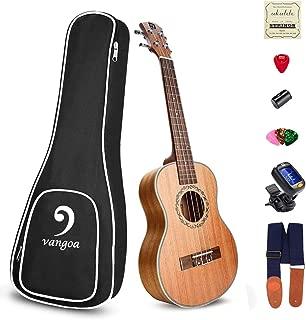 Ukulele Mahogany Soprano Acoustic 21 inch Professional Best Vintage Hawaiian Acoustic Ukelele Kit for Beginners, by Vangoa